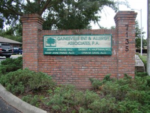 Gaineville ENT & Allergy Office Location